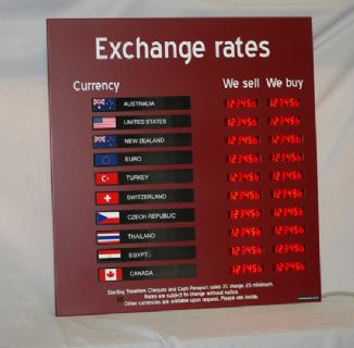 Exchange Rate Board 10